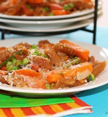 Clean Cuisine Italian Style:  Primavera Baked Ziti Recipe