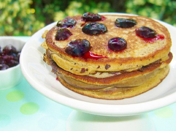 Clean Cuisine Blueberry Pancakes