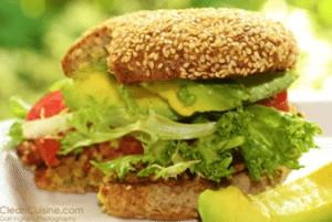clean eating black bean burger for kids