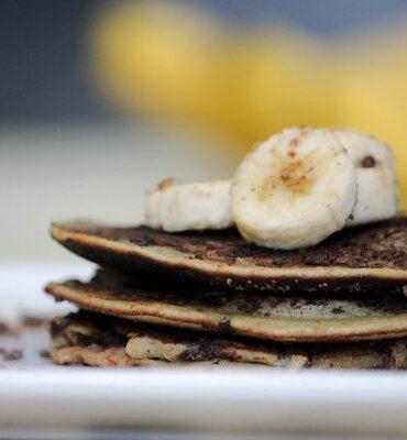 Wheat Free Banana Pancake Recipe with Chocolate Chips