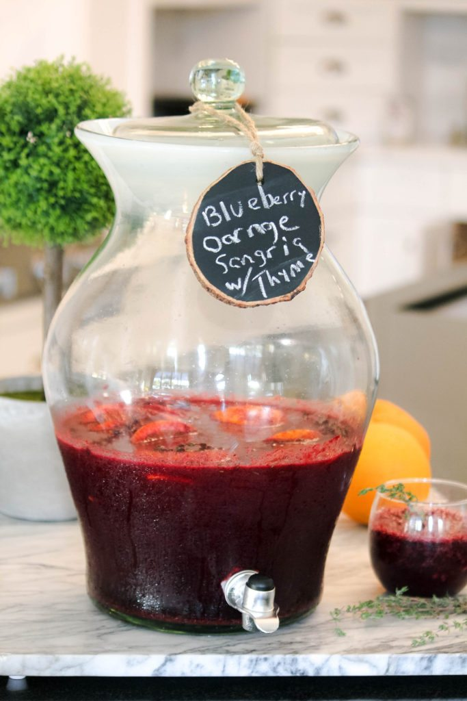 Easy Sangria Recipe with wild blueberries
