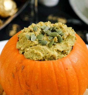 healthy living pumpkin hummus