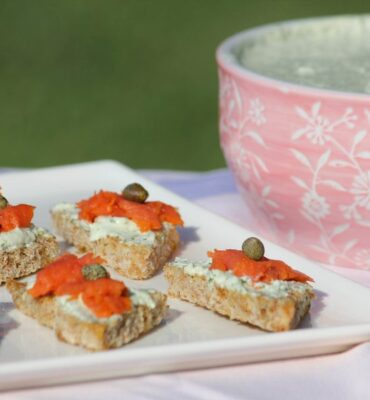 Smoked Salmon Appetizer with Dairy-Free Herb Spread