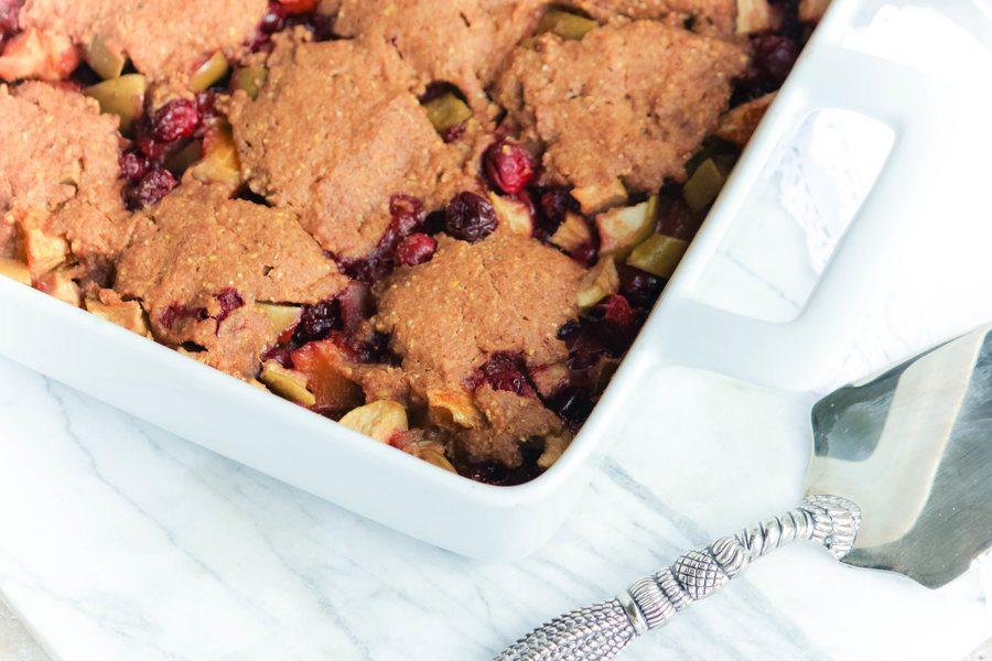 Polenta Cobbler Makes a Tasty Fruit Dessert or Make-Ahead Breakfast!