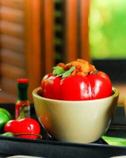 healthy living Vegetarian Stuffed Peppers
