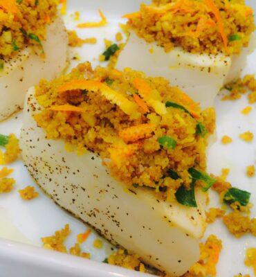Chilean Sea Bass Recipe with Macadamia-Orange Crust