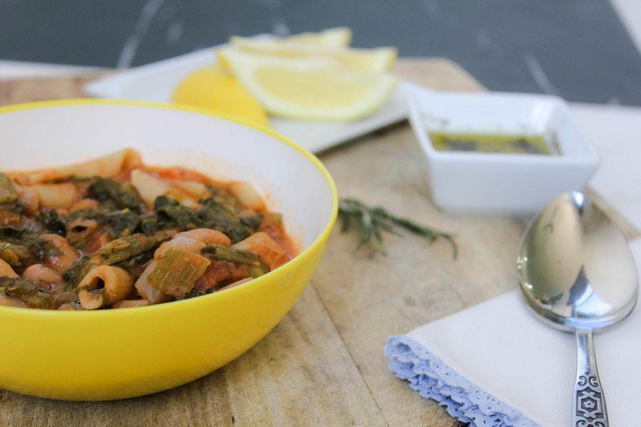 Tuscan Bean Soup with Escarole