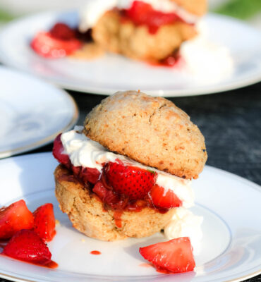 Clean Remake of Bon Appetit's Best Strawberry Shortcake Dessert