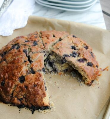 clean eating gluten free blueberry scones