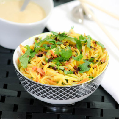 Easy Pad Thai Recipe with Cashew Cream + Veggie Noodles