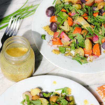 Warm Vegetable Salad Recipe with Dijon Dressing