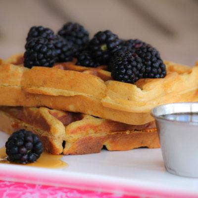 Gluten Free Waffles (with Hidden Butternut Squash)