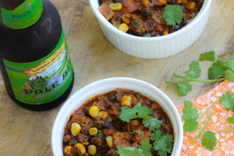 Poblano Chili Recipe with Turkey and Black Beans
