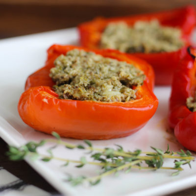 Recipe for Stuffed Peppers with Savory Shitake Mushrooms