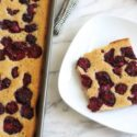 Banana Tray Bake Cake with Blackberries