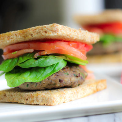 Umami-Rich Turkey and Mushroom Burger