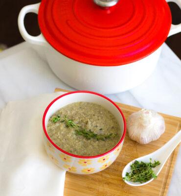 Dairy Free Cream of Mushroom Soup Recipe (with Shitake Mushrooms)
