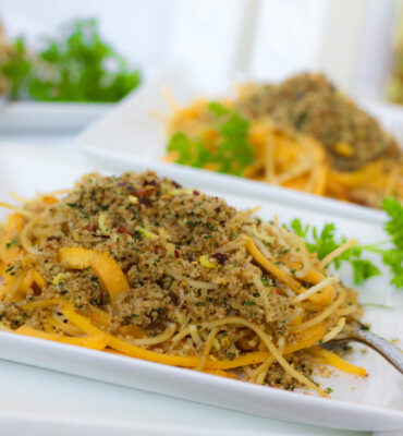 A Clean Remake of an Italian Favorite: Spaghetti with Breadcrumbs