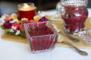 clean cranberry apple sauce recipe with no refined sugar