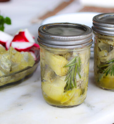 Easy Marinated Artichoke Recipe (with Lemon + Rosemary)