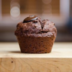 clean eating chocolate walnut muffins