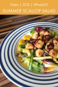Summer Scallop Salad Pinterest Pin