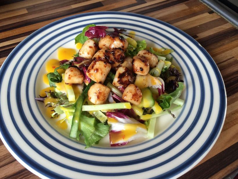 Summer Scallop Salad Recipe