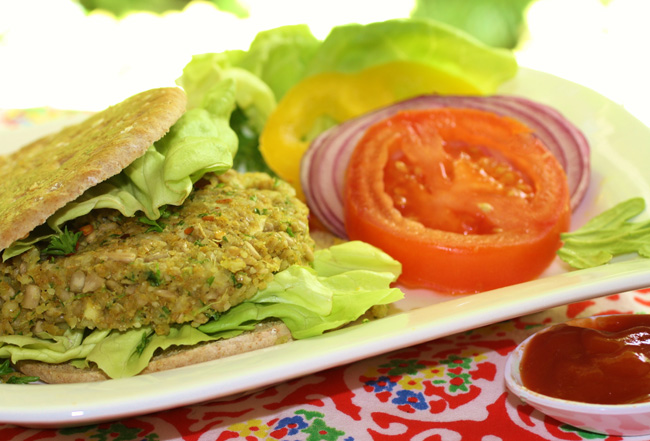 Beginning raw food recipes try the 10 minute vegan burger hello 10 minute vegan burger forumfinder Images