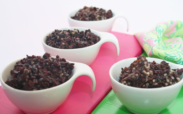 "Black Rice ""Pudding"" / Gail Ingram Photography"