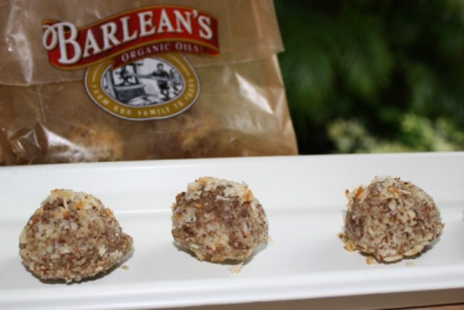 Clean Cuisine Power Bites with Barlean's