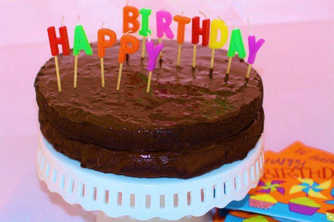 healthy living birthday cake