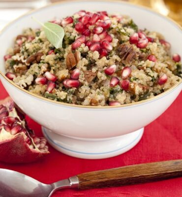 Easy Quinoa Recipe with Kale and Pomegranate Seeds