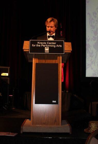 andrew larson speaking at Kravis Center for the Performing Arts
