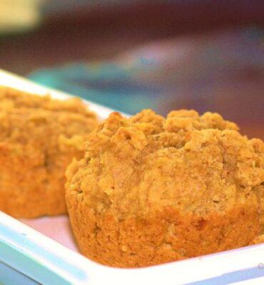 Mighty Moist Peanut Butter Banana Muffins Recipe