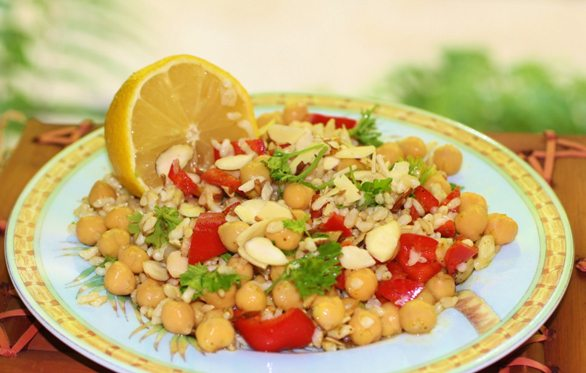 clean cuisine chickpea salad