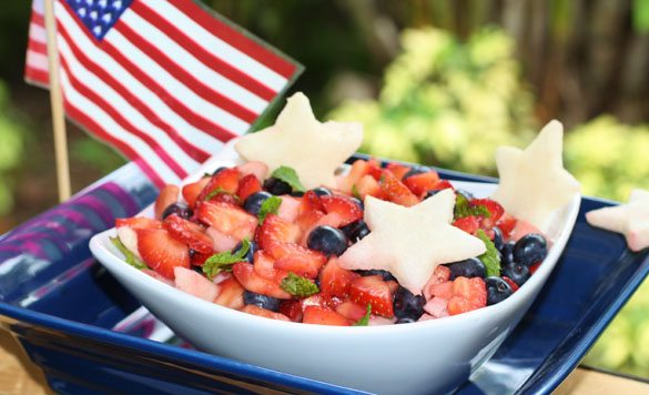 July 4th fruit salad