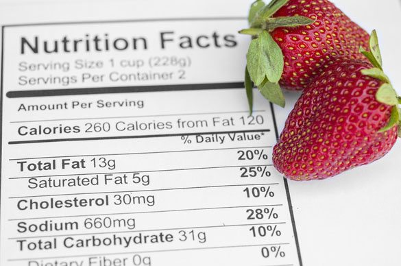 Strawberries with nutrition facts