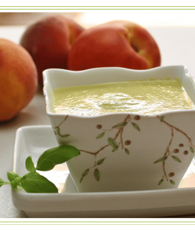 Peach and Basil Gazpacho