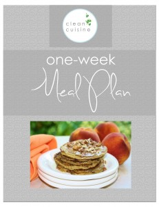 ONE-Week Meal PlanCOVER