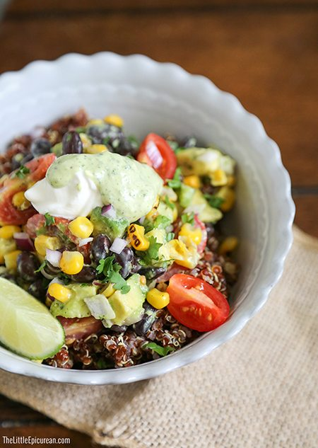 Red-Quinoa-Bowl-with-roasted-corn-avocado-and-black-beans