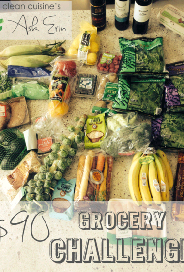 Ask Erin's $90 Challenge: Grocery Shopping on a budget