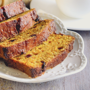 Healthy Pumpkin Bread with Apples and Raisins