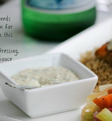 Healthy Homemade Salad Dressing, Dip and Sauce