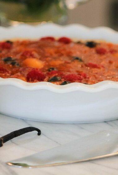 Summer Berry Mango Pie Recipe