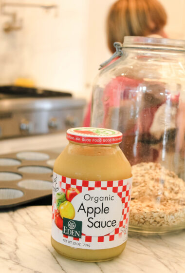 Easy Applesauce Oatmeal Muffins with White Chia Seeds