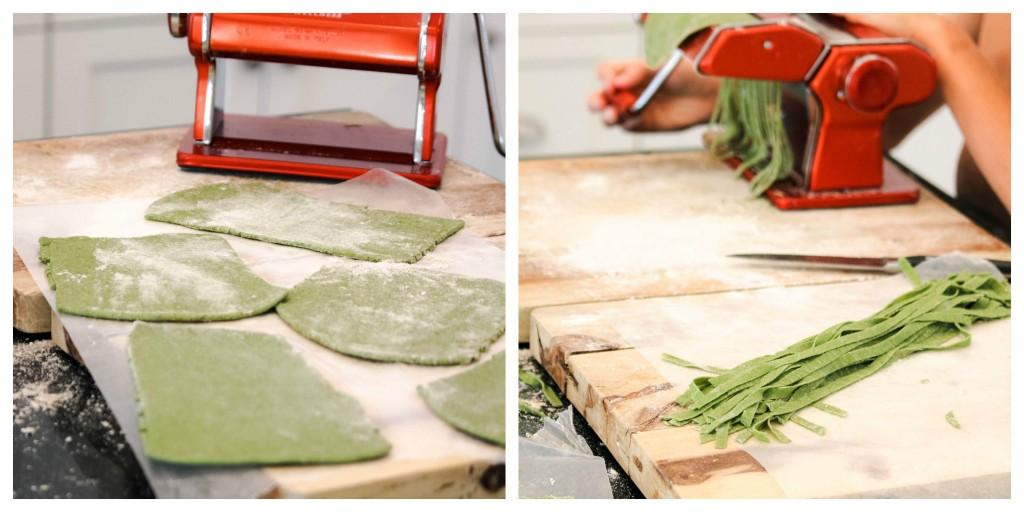 Marcato Atlas homemade pasta recipe with spinach