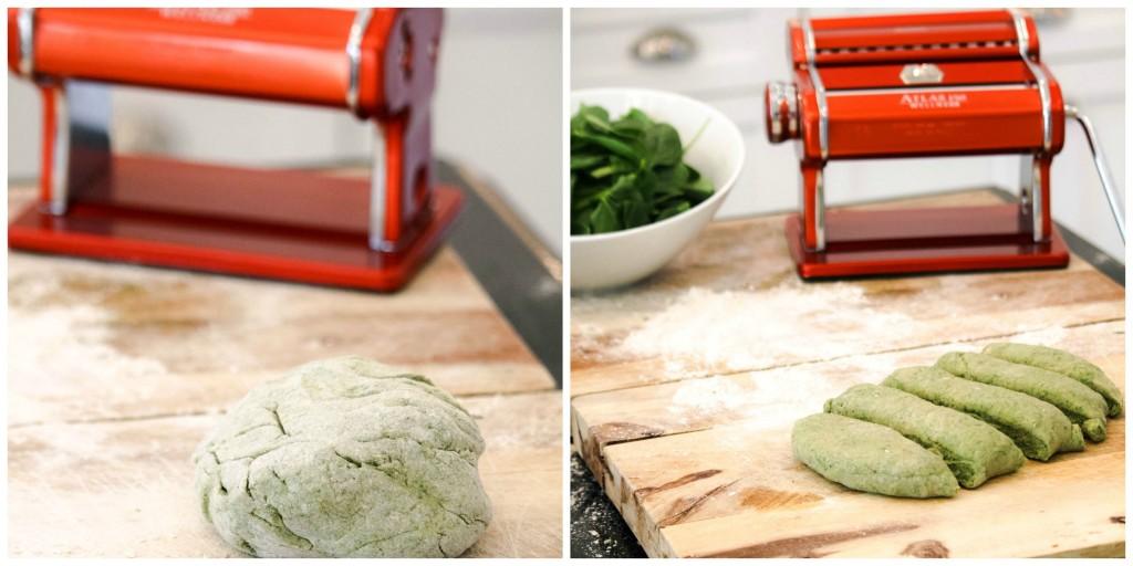 homemade pasta with Atlas Marcato