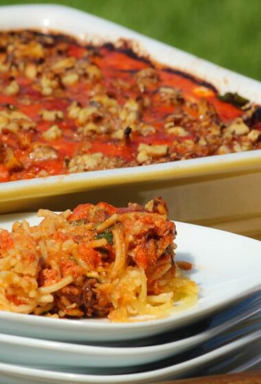 Clean Spaghetti Pie Recipe with Spaghetti Squash