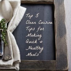 Top 5 Tips for Quick Healthy Meals