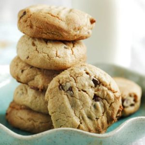 Healthy Peanut Butter Cookies with Chocolate Chips